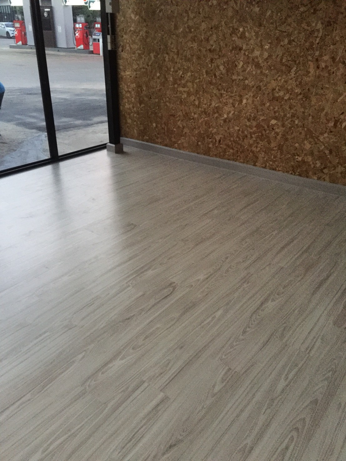 Floor tile with PVC wall skirt 01